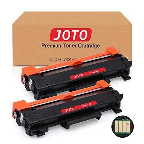 JOTO TN2420 TN-2420 TN2410 TN-2410 Toner, Compatibile per Brother MFC-L2710DW MFC-L2710DN MFC-L2750DW HL-L2310D HL-L2370DN HL-L2350DW DCP-L2510D HL-L2375DW DCP-L2550DN MFC-L2730DW (2 Nero Con Chip)