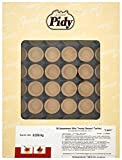Pidy Assorted Mini Trendy Round and Square Butter Sweet Shell Shortcrust Dough Golden Brown Colour 96 Pieces