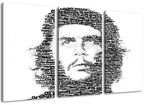 Che Guevara Kubanische Revolution Dreiteilige Malerei Auf Leinwand Bedeckten Bildern Plakat Rahmenlose Hauptdekoration