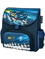 Herlitz Super Racer Mochila Azul - mochilas escolares (Mochila, Niño, Toddler & preschool, Azul, Imagen)