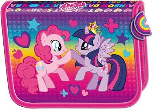 My Little Pony Federtasche Federmappe aufklappbar Federmäppchen ETUI für 28 TEILE Schüleretui 20 x 13,5 cm