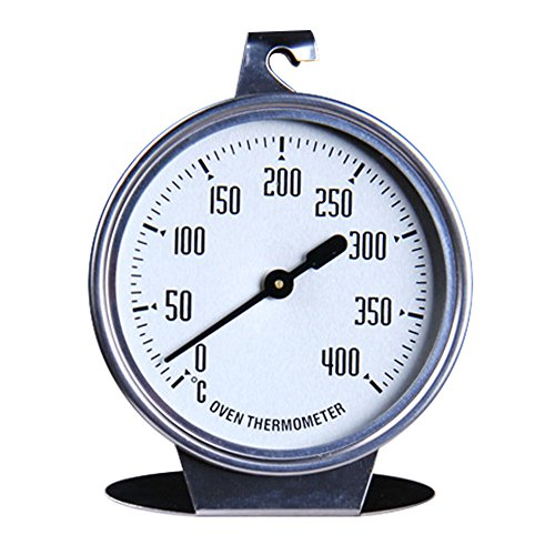 Syeytx Großes Essen Fleisch Temperatur Stand Up Dial Küche Elektro Backofenthermometer Edelstahl Spurweite 0-400 ° C -