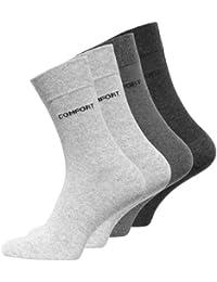Lot de 8 paires de chaussettes classiques - logo COMFORT - sans élastique - homme