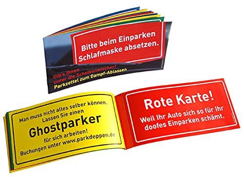 zum Dampfablassen • 77080 • 1 x Parkzettel je 12 Abreissblätter 20,7 x 9,5 cm • Künstler Sobunthier • Parkschein • Knöllchen ()