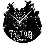 Instant Karma Clocks Horloge Murale en Vinyle Disque LP 33 Tours idée Cadeau Vintage Handmade Tatouage Tribal Magasin Studio Tatouage Silencieux
