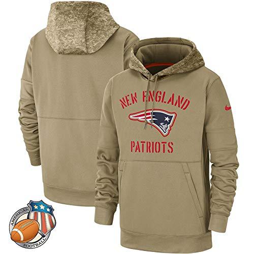 Sportswear Männer Hoodie - New England Patriots - Camouflage Amerikanischen Rugby Pullover Fußballfan-Ball Jersey - Teen Jacke Geschenk Army Green-L