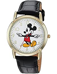 Disney Men's 'Mickey Mouse' Quartz Metal Casual Watch Color:Black (Model: WDS000404)