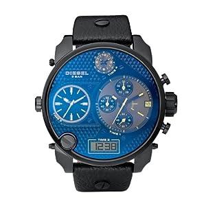 Reloj Diesel DZ7127 y digital de cuarzo para hombre con correa de piel, color negro de Diesel
