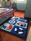 BAGEHUA Maßgeschneiderte Rosa Prinzessin Kinder Teppich Wohnzimmer Couchtisch Sofa Nachttisch Teppich Waschen Brauch, 100 X 160 cm, Segeln