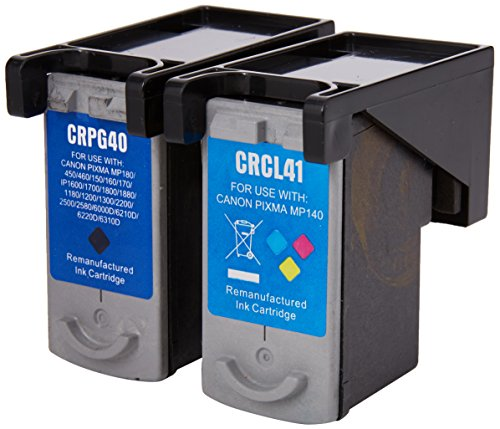 Prestige Cartridge 2 x PG-40 CL-41 Tintenpatronen, schwarz/dreifarbig - Ink Cartridge Pg-40