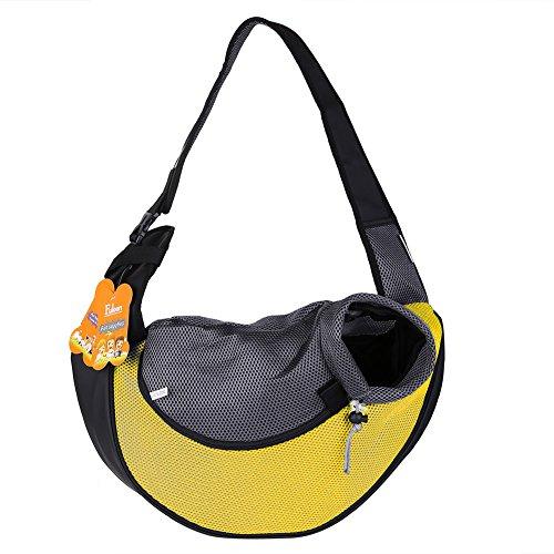 Fuloon Morbida borsa trasportino per cani e gatti da spalla con tracolla (Giallo)