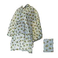 Faye UK Ltd. Eco-Chic Foldable Waterproof Lightweight Adult Poncho Bee Grey