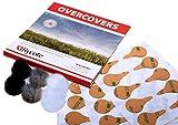 Rycote 065505 Fixations pour Micro Autocollantes avec Couverture EN POILS pack de 30+6