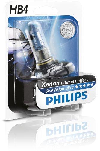 Philips 9006BVUB1 BlueVision - Bombilla HB4 para faros delanteros (efecto ultra Xenon)