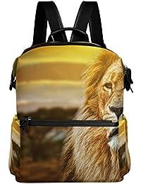 Preisvergleich für COOSUN Lion Portrait Schule Rucksack-Spielraum-Rucksack Multi