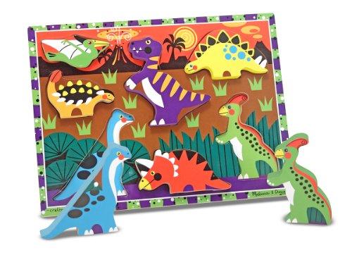 Melissa & Doug 13747 Dinosaur Wooden Chunky Puzzle (7 pcs)