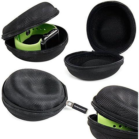 DURAGADGET Funda Negra Para El Apple Watch Sport / Series 2 / Nike+ / Hermes / Edition + Gamuza Limpiadora - ¡Perfecto Para Guardar Su