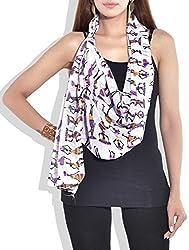 Indian Fashion Guru Womens Silk Stole (Bo-01-00034 _Multicolor _Small)