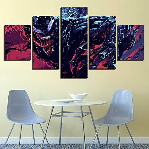 FilmFigur Malerei Moderne Hauptdekorationen HD Druck Modulare Bild Poster Leinwand Wandkunst Gerahmt-40x60cmx2,40x80cmx2,40x100cmx1 ()