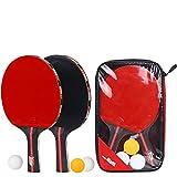 V-joy® Pro Premium Tisch Tennisschläger Schläger-Set, Ping Pong Paddel mit 2Schlägern, 3Bällen und Staubbeutel