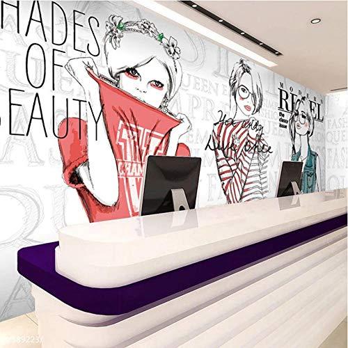 Benutzerdefinierte Fototapeten 3D Fashion Shopping Poster Wandmalereien Bekleidungsgeschäft Zubehör Shop Dance Studio Hintergrund Tapete