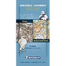 Pack 2 cartes hier/aujourd'hui Grenoble - Chambéry Michelin