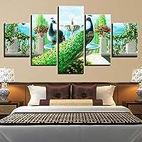 Spray painting core spray painting core micro spray decoration 5 spelling green peacock animal multi size optional, size 0: 10x15cmx210x20cmx210x25cmx1