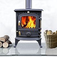 Lincsfire 5.5KW Cast Iron Wood Log Burner Wood Burning Stove Multifuel Fireplace Woodburner