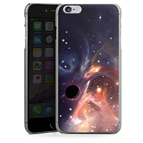Apple iPhone X Silikon Hülle Case Schutzhülle Outerspace Galaxy Muster Hard Case anthrazit-klar