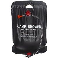 Bolsa de ducha solar - TOOGOO(R) Bolsa de ducha solar de acampada de 20 litros de color negro