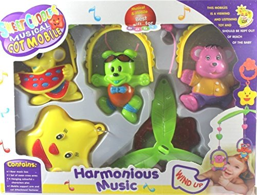 HYE Sweet cuddle cot Cradle Hanging Musical Rattle 6 pc Set for Infants Multi Color