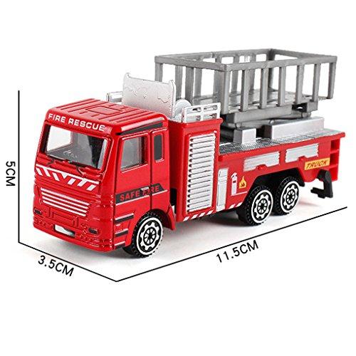JYJMEngineering Spielzeug Mining Auto Lkw Kinder Geburtstagsgeschenk Feuer Rettung Schaben Spielzeug Legierung Baufahrzeug Spielzeugauto (A)