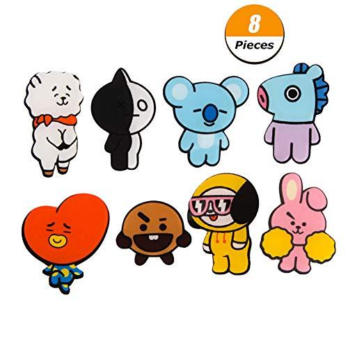 KroY PecoeD BTS Bangtan Jungen Q Stile Cartoon Acryl Pins Abzeichen Brosche für Kleidung Hut Rucksack Beste Geschenk für Die Armee(Style 05-8 Pcs) -