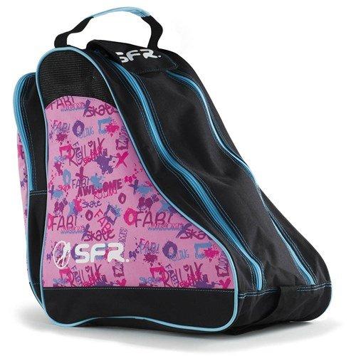 sfr-designer-ice-roller-skate-carry-bag-pink-graffiti-by-sfr