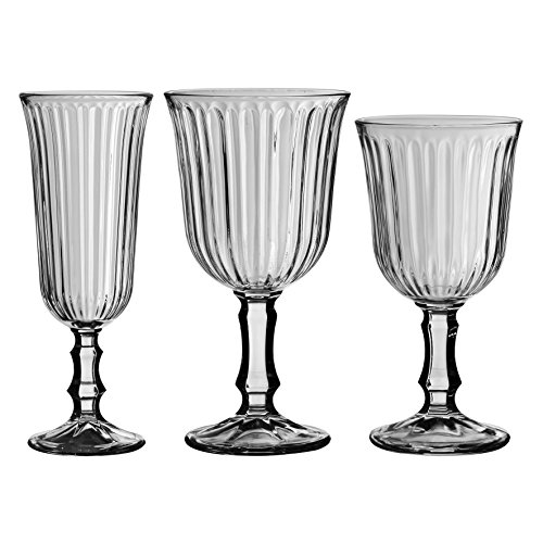 Libbey 2178S1F24 Weißweinglas Weinkelch Nostalgie 240 ml, Höhe 15,5 cm, 6 Stück - 2