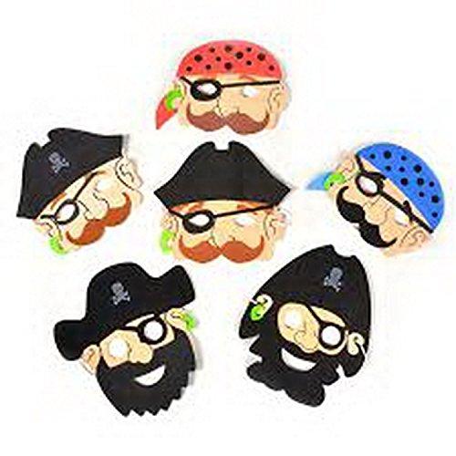 Gifts 4 All Occasions Limited SHATCHI-1446 Shatchi-6 - Máscaras de pirata de espuma, piñata, juguetes, bolsas de fiesta