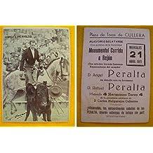Publicidad - Advertising Card : Angel y Rafael PERALTA - Plaza Toros Cullera 21 Abril 1971