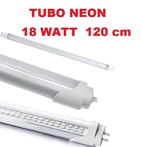 easyelettronica® Tubo Neon LED SMD Split de 1200mm mate con casquillo T8de 18W = 200W Neon tradicional, luz blanco 6500K 1900lúmenes alta luminosidad, duración de hasta 50.000horas funcionamiento a 220V sin necesidad de iniciación y Reactor