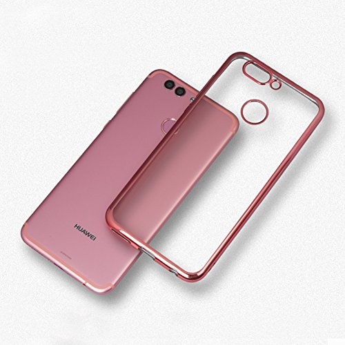 Coque Huawei nova 2, MSVII® TPU Souple Transparent Bumper Coque Etui Housse Case et Protecteur écran Pour Huawei nova 2 - Or rose JY60023 Or rose