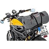 Motorrad Hecktasche QBag Hecktasche/Gepäckrolle wasserdicht 10, Netzinnentasche, inklusive anklickbaren Schultergurt, widerstandsfähig, reißfest, Grau, 35 Liter