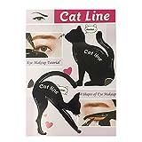 Multifunktions Katze Eyeliner Schablone Lidschatten Guide Vorlage, Augen Make-up Schablone Werkzeug Schwarz