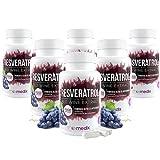 Resveratrol™ - Das Original - Mulitpacks   100% natürlicher Rotwein-Extrakt - Stärkt die Gesundheit, steckt voller Antioxidantien & hilft beim Abnehmen (6)