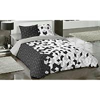 COTTON ART - funda Nordica Modelo GEO CUBE cama de 150 / 160 (240x260cm) + 2 FUNDAS DE ALMOHADA (45X80cm) ALGODÓN 100% Disponible para cama de 90 105 135 150 y 180.