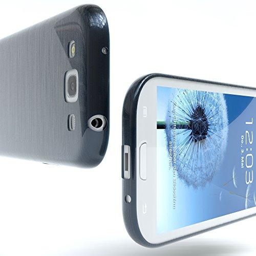 Samsung Galaxy S3 / S3 Neo Hülle - EAZY CASE Ultra Slim Cover TPU Handyhülle - dünne Schutzhülle aus Silikon in Pink Brushed Dunkelblau