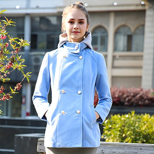 Xuanku avec Une Pac Sauvage Wild Double Breasted Trench Coat Femme Slim