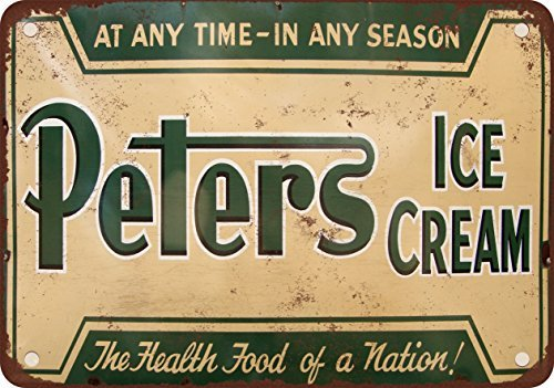 peters-ice-cream-vintage-look-reproduction-metal-tin-sign-8x12-inches