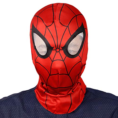 molezu Spider-Man Face Mask Halloween Costume Party Cloth Party Mask Hood for Role Play Costume A One Size Mask Unisex Headgear Cosplay Halloween Mask Helmet Props Movies (Spider-Man)