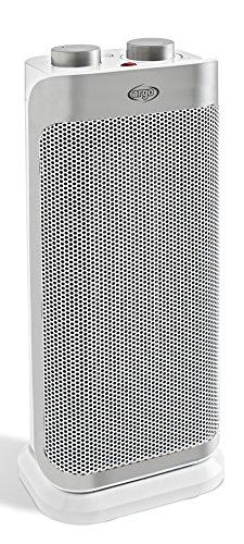 Argoclima Boogie Plus Termoventilatore Ceramico a Torre, Bianco/Argento