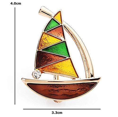 X-Z Emaille Segelboot Broschen Damen Herren Legierung Party Bankett Broschen Damentaschen Zubehör