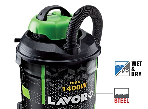 Lavorwash jocker 1400 s drum vacuum 20l 1400w black, green vacuum - vacuums (1400 w, drum vacuum, 20 l, black, green, telescopic, dry&wet)